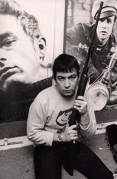 ERIC BURDON vocalist with The Animals pop group at his London home in November 1966. Photo Tony Gale