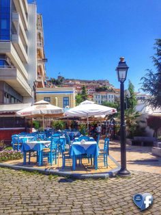 Kavala Greece Romantic Destinations, Macedonia, Best Cities, Greece, Beautiful Places, Sweet Home, Scene, Patio, Table Decorations