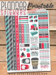 Black Friday Planner Stickers are perfect to organize your big day of holiday shopping.