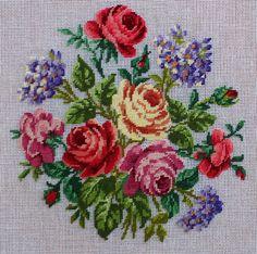 Antique needlewoolwork pattern