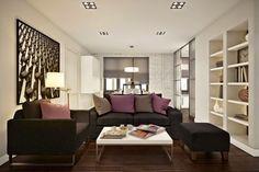 Ngắm căn hộ 45m² đẹp sang trọng với gam màu nâu - trắng  Dù chỉ sử dụng 2 gam màu trắng - nâu làm chủ đạo nhưng nhờ cách sắp xếp mạch lạc của không gian sống