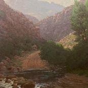 Sold   Volschenk, J.E.A   A drift in Zevenweek's poort Land Surveyors, South African Art, Contemporary Art, Art Gallery, Landscape, Art Museum, Scenery, Landscape Paintings, Corner Landscaping