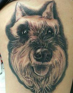 Schnauzer cute dog tattoo