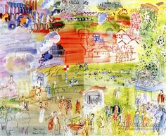 Raoul Dufy,Preliminary Study For The Mural La Fée Electricité oil painting reproductions for sale
