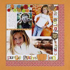 Thanksgiving Scrapbook Layout Ideas: Fall Scrapbook Layout Ideas
