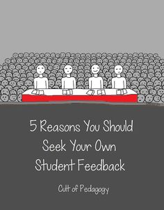 5 Reasons You Should Seek Your OWN Student Feedback Cult of Pedagogy Instructional Coaching, Instructional Strategies, Teaching Strategies, Teaching Tips, Teacher Evaluation, Course Evaluation, Cult Of Pedagogy, Feedback For Students, Visible Learning