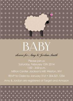 baby shower invitation little lamb baby shower por gracenldesigns, Baby shower invitations