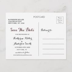 Navy Marsala Boho Floral Wedding Save the Date Announcement Postcard Wedding Personalized Invitations, Zazzle Invitations, Whimsical Wedding, Elegant Wedding, Unique Office Supplies, Floral Wedding Save The Dates, Wedding Postcard, Save The Date Postcards, Marsala