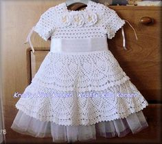 This Cute Crochet Lace Baby Girl Pineapple Stitch Dress with Tulle Lining is Made to order;. It is made of 100% blended cotton yarn. Contact me