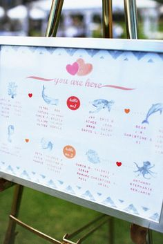 7 Pretty Perfect Seating Chart Ideas - great idea for a beach/nautical/cruise themed wedding!