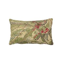 Vintage Battle of Chantilly Map (1862) Pillows from Zazzle.com $52.00