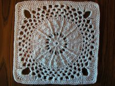 """JANUARY.                     New Year's Eve, 12"""" Square, Crochet, pattern downloadable, Ravelry."""
