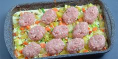 Frikadeller i fad med kartofler og porrer Pork Recipes, Cooking Recipes, Healthy Recipes, Great Recipes, Dinner Recipes, Easy Food To Make, Everyday Food, I Love Food, Soul Food