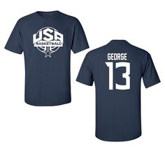 >> Click to Buy << 2017 Summer champions pippen Paul George dream team usa basket ball Shirt Short Sleeve Cotton T-Shirt Male Tops Shirt USA size  #Affiliate