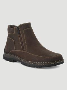 a21f7d7fc31 Boots fourrées à zip Marron Ces boots fourrées pour homme de la marque  Walking sont LA