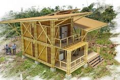 techos Pink Things pink color in chinese Bamboo Architecture, Tropical Architecture, Architecture Design, Bamboo Building, Natural Building, Building A House, Bamboo Roof, Bamboo House Design, Bamboo Structure