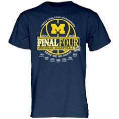 Michigan Wolverines 2013 Final Four Years T-Shirt