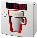 Single Serving Coffee Maker with Alarm Clock. What dream home would be complete without one?!