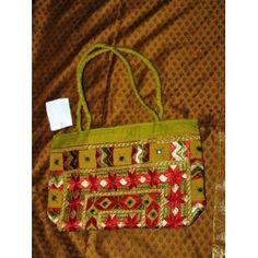 Embroidered Sari handbag Old Gold Banjara Mirrors Purse (Apparel)  http://www.amazon.com/dp/B005CG5O30/?tag=worldshouts-20  B005CG5O30