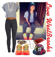 """Love Westbrooks"" by foreversmilinglexxie ❤ liked on Polyvore featuring NIKE, River Island, Michael Kors and Milkcrate"