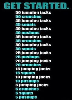 Workout #getstarted-I did this workout it works
