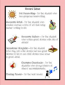 Kindergarten Squared: Awards Ideas for your Kiddos!