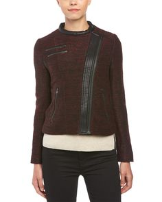 Spotted this The Kooples Faux Leather Trim Wool-Blend Fancy Jacket on Rue La La. Shop (quickly!).