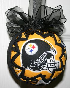 Pittsburg Steelers NFL fabric quited ornament by WreathsByKari, $12.75