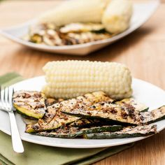 Five ingredient best ever grilled zucchini with a garlicky balsamic tamari saue. Both #glutenfree and #vegan. One of my all time favorite #sidedish #recipes