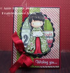 Card #3 in my 2012 Christmas Card Series. By AmyR of Prairie Paper & Ink :)