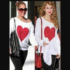 Wildfox Heart Romper As seen on Taylor Swift, Jennifer Lopez, Paris Hilton. Super soft Wildfox. White with red glitter heart. Heart is in perfect condition. For those unfamiliar with Wildfox, the fabric is designed to look vintage and comes pilled. Please see fourth photo to see texture. Last 3 photos are all of the actual top photographed today. Perfect for Valentine's Day! Perfect for any fashionista and Wildfox fan! Sold out. Some signs of wear, like pilling on the inside of cuffs. See…