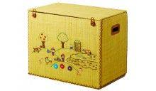 RICE Spielzeugkorb Bauernhof gelb