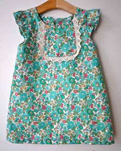 o+s playdate dress all in liberty with lace yoke rather then piping sans buttons or ruffles