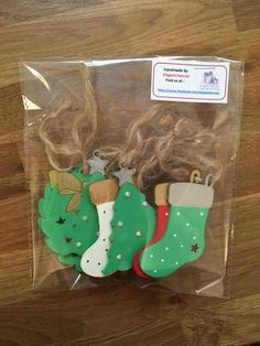 Handpainted and Decorated Christmas Decorations Wooden