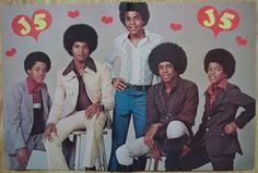 JACKSON 5 / MICHAEL JACKSON - 2-PAGE COLOUR POSTER - US -TEEN MAGAZINE 1970s
