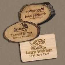 Wooden Nametag - hard to copy, every attendee will love!