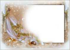 christmas transparent png borders and frames | golden hues and silk curtain for the new year holidays