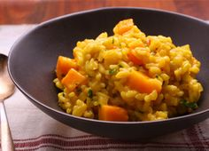 saffron and squash risotto