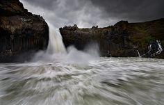 Incredible waterfall and raging water