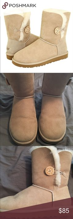 Ugg Baily Boots Only worn twice (I live in hot/humid Florida) excellent condition color is sand, size 8 UGG Shoes Winter & Rain Boots