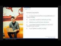 (1) Google Partners Online Analytics Academy (7/8): Ciele, konverzie a transakcie - YouTube