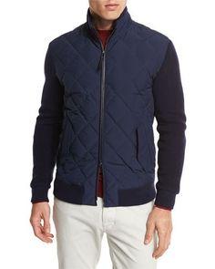 Genuine Sale Online Free Shipping Discount two tone zipped sweater - Blue Ermenegildo Zegna Buy Cheap Reliable Cheap Footlocker Comfortable For Sale SvZy4TZpw