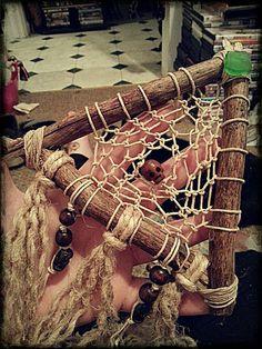Natural Hemp Dream Catcher Branches Hemp by TheKnottyRatsNest, $22.00