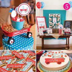 Party of 5 - Springtime in Paris, Minnie Mouse, Glam Safari, Baking with Love, Little Red Wagon // Hostess with the Mostess®