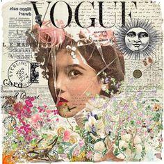"""""""Vogue"""" Newspaper Collage <3"""