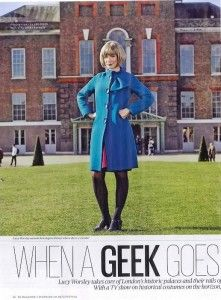 Lucy Worsley goes to London Fashion Week