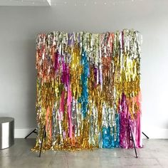 Shimmer shimmer wall for one of our super fun clients. Party Kulissen, 70s Party, Party Time, Craft Party, Decor Photobooth, Grad Parties, Birthday Parties, Disco Birthday Party, Mouse Parties