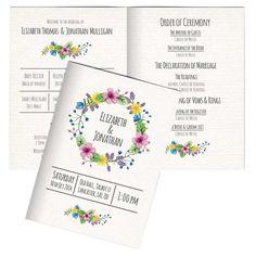 Order of service Wedding program Wedding by PaperWillowDesign