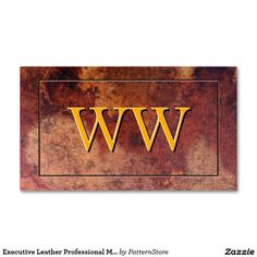 Executive Leather Professional Monogram Double-Sided Standard Business Cards (Pack Of 100)