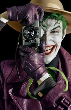 Joker, 'The Killing Joke' comic-book cover cosplay-recreation. Flawless and spot-on. Photographer, wardrobe-artist/designer, makeup-artist unknown. Cosplayer: Anthony Misiano?